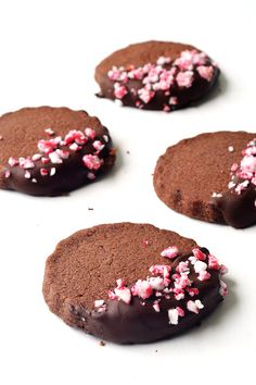 Peppermint Chocolate Shortbread Cookies perfect for Christmas   Sweetest Menu