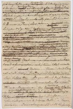 """The manuscript of the Watsons, containing extensive revisions, marginalia and crossings-out, was described by the university as """"a testimony of Jane Austen's efforts to give shape to the earliest ideas as they pour on to paper, as she reviews, revises, deletes and underscores."""""""