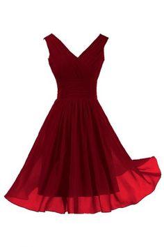 Sunvary Elegant V Neckline Chiffon Cocktail Party Dresses Bridesmaid Dresses Short - US Size 2-Burgundy Sunvary http://www.amazon.com/dp/B00GW9CICQ/ref=cm_sw_r_pi_dp_Rfdoub14CVTZ9