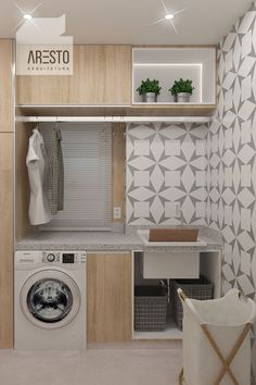 120 brilliant laundry room ideas for small spaces – practical & efficient pag. - 120 brilliant laundry room ideas for small spaces – practical & efficient page 1 - Laundry Room Cabinets, Laundry Room Organization, Modern Laundry Rooms, Laundry Room Inspiration, Laundry Room Design, Bathroom Interior, Home Interior Design, Small Spaces, Small Space Design