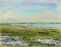 Max Slevogt, Landshut 1868 - 1932 Neukastel, Der Ätna von Syrakus aus gesehen, 1914