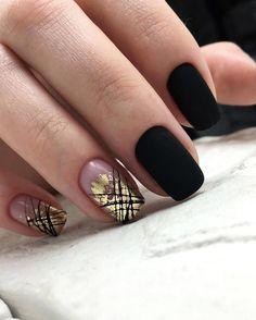 ür 35 Fabulous Black Nail Designs For Ladies - Page 12 of 99 - CoCohots 35 - Nails Black Nail Designs, Nail Art Designs, Hot Nails, Hair And Nails, Fancy Nails, Pretty Nails, Cute Acrylic Nails, Square Nails, Beautiful Nail Art