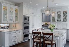 Large White Traditional Kitchen Island With Seating : Designers' Portfolio : HGTV - Home & Garden Television Kitchen Cabinet Inspiration, Kitchen Cabinet Styles, Kitchen Cabinets Decor, Cabinet Ideas, Kitchen Ideas, Design Kitchen, Cabinet Design, Kitchen Layouts, Display Cabinets