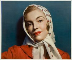 """McCall's magazine cover, Woman wearing scarf"" by Nickolas Muray (American 1892-1965), July 1938."