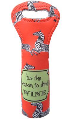 Haymarket Designs, Zippity Zebra Wine Tote
