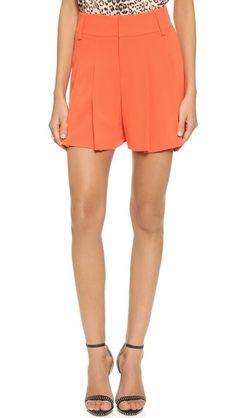 alice + olivia High Waisted Flutter Shorts
