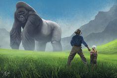 Colossal ape, Bern Foster on ArtStation at https://www.artstation.com/artwork/V3z2b
