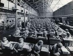 J. Lyons and Co. factory in Greenford, Ealing, West London: making and packing chocolates in 1920.