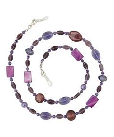Purple Amethyst Eyeglass Chain Necklace by Zulily