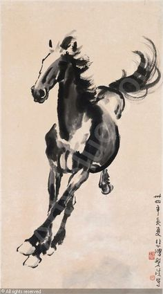 Xu Beihong; China: A Galloping Horse: 1945