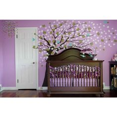Girl Nurseries... This is one of my favorites! i love all of the lavendar rooms so very much! the tree is beautiful also.