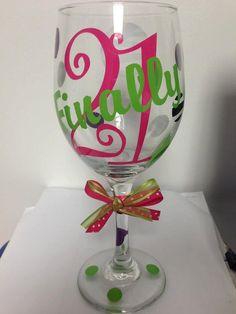Custom Wine Glasses...designed for Birthdays by PYdesigned on Etsy, $10.00