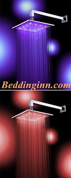 #showerhead #rainfall #bathroom Buy link-->http://goo.gl/tXsbfm Live a better life,start with beddinginn http://www.beddinginn.com/product/12-Inches-LED-Big-Rainfall-Shower-Head-faucet-Hydro-Power-10595585.html