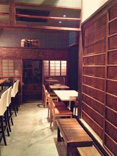 谷町6丁目の空掘周辺にあるビストロ、レクレールの内装。日本家屋の雰囲気をそのまま使った素敵な空間。