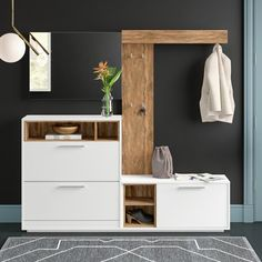 Mercury Row Mccullum Hall Tree with Bench and Shoe Storage Wood Storage Bench, Shoe Storage, Hall Tree Bench, Hall Trees, All Modern, Entryway Decor, The Row, Shelves, Decoration
