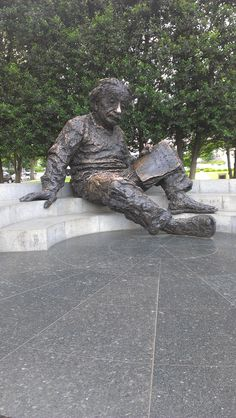 Einstein Memorial in Washington DC - I had to make a real effort to climb up, but I sat on his knee and had my picture taken.  We just happened on this statue in a tiny park.  Nice surprise at the end of a long day.