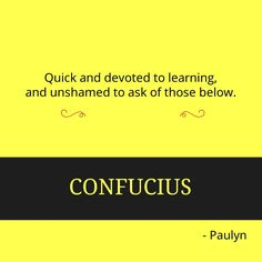 Confucius. The great educator before psychology was born.