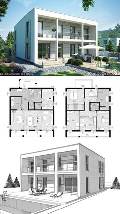 Office Layout Plan, House Layout Plans, New House Plans, House Floor Plans, Layouts Casa, House Layouts, Modern Architecture Design, Minimalist Architecture, Town Country Haus