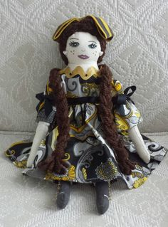 "HaShaye's 14 1/2"" Handmade Soft Sculpted Cloth Doll ""Ashlee Airye"" Unique Victorian Collectible Doll Handmade Display Toy Doll - pinned by pin4etsy.com"