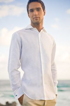 white linen, beach
