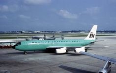 Braniff International Boeing 707-227 N7074 at Miami-International, June 1966. (Photo: John P. Stewart, Copyright: Braniff Flying Colors Collection)