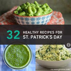 Happy St. Patrick's Day! Here are 32 healthy recipes to celebrate!