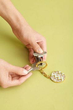 No more broken nails: To add to your key ring, wedge a staple remover's teeth between the coils, then clamp down to separate them — a new key will slide on easily.