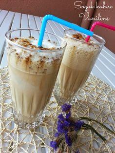 Bu akşam sıcaklarda içinizi serinletecek çok güzel bir tarifim var..  Soğuk kahve de nasıl olur ki demeyin:))Tahmininizden de lezzetli...