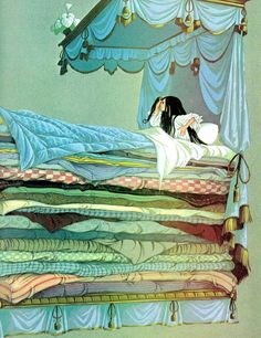 this illustration. I read this book of fairy tales as a kid. this illustration. I read this book of fairy tales as a kid.this illustration. I read this book of fairy tales as a kid. Art And Illustration, Book Illustrations, Botanical Illustration, Art Disney, Princess And The Pea, Poster Design, Graphic Design, Hans Christian, Fairytale Art