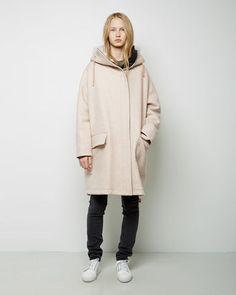 ACNE STUDIOS   Teasel Melange Long Wool Parka   La Garçonne