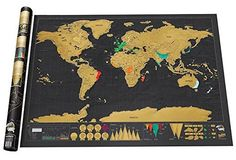 Black Scratch World Map with Scratch Off Layer -Large Deluxe Edition Phoenix seller http://www.amazon.com/dp/B00UAGI22M/ref=cm_sw_r_pi_dp_l3Kbvb062XHEG