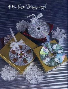 Colgante para la pared con cd reciclado weihnachten for Cd reciclados decoracion