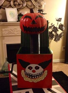 I am in my own personal heaven right now...so much awesome! DIY Nightmare Before Christmas Jack-in-the-box.