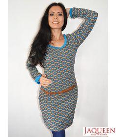 Kleid Retro Muster  Baumwolle  von Jaqueen auf DaWanda.com