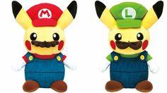 Pokemon Pikachu Mario Plush Doll