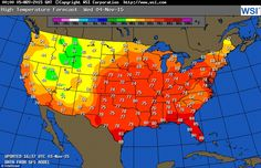 Pictured is the highs that will be reached across the US tomorrow.Eastern US is currently...