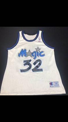 595e0c93d Champion Vintage Mens Medium Size 40 White Orlando Magic Shaquille O Neal  Champion Basketball Jersey. Grailed
