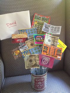 Teen #boys birthday gift idea... gift cards, lotto tickets and cash - best gift ever for #teens