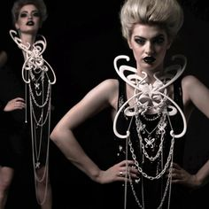 Mother Chains 3d printed hybrid neck piece by Rob Elford.