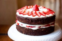 Strawberries and Chocolate Cake. Confection!
