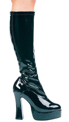 01d83f0fbe7 Boot Chacha Black Size 7. Black Chunky HeelsPatent Leather BootsPlatform BootsKnee  High ...