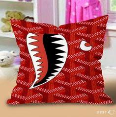 GOYARD Print Red shark Pillow Cases