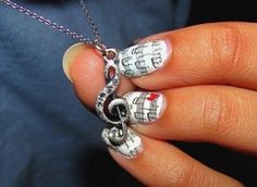 music necklace and nails Music Note Nails, Music Nails, Music Necklace, Dog Tag Necklace, Music Jewelry, Cute Nail Designs, Fingernail Designs, Hair And Nails, Jewelery