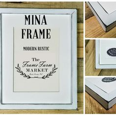 """Meet MINA ! The stylish new addition to our frame collection. #rustic #farmhouse, #Industrial or #modern this frame is universal. Perfect for gallery walls with an 1"""" width. Handmade and created here in beautiful Bucks County 🤠"""