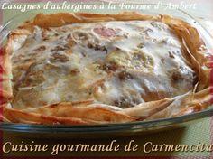 Lasagnes d'aubergines à la Fourme d'Ambert  http://www.carmen-cuisine.com/article-lasagnes-d-aubergines-a-la-fourme-d-ambert-73491913.html