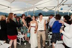 recessional, petal toss, lesbian wedding, same-sex wedding, Vancouver, BC