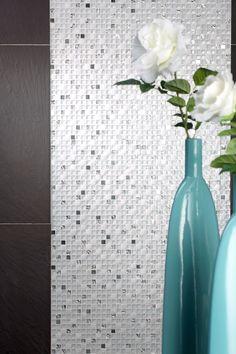 Mineral Diamond White Mosaic   Topps Tiles
