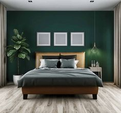 Dark Green Bedroom Walls Best Dark Green Walls Ideas On Rooms Within Wall Decor Bedroom Dark Green Bedroom Walls Dark Green Rooms Decorating Green Bedroom Walls, Green Master Bedroom, Dark Green Walls, Dark Green Living Room, Green Bedroom Decor, Green Bedrooms, Green Bedroom Colors, Dark Bedrooms, Green Home Decor