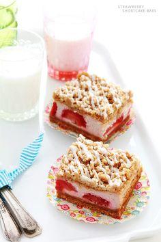 Strawberry Shortcake Bars...I got SO happy just reading this recipe -- I can't wait to make them!