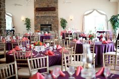purple and coral wedding colors - mine =)